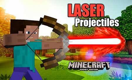 Мод Laser Projectiles для Minecraft PE