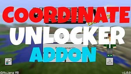 Мод Coordinates Unlocker для Minecraft PE