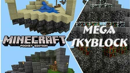 Карта Mega Skyblock для Minecraft PE