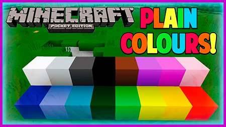 Текстуры Plain Colors 1.1.0 для Minecraft PE