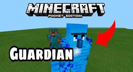 Мод Alex's Guardian для Minecraft PE