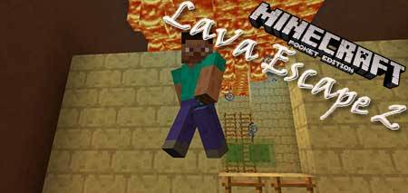 Карта Lava Escape 2 для Minecraft PE