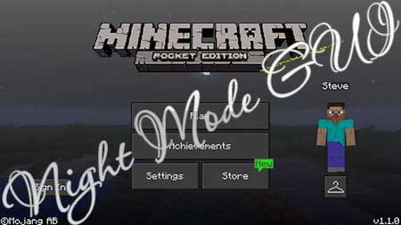 Текстуры Night Mode GUI для Minecraft PE