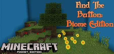 Карта Find The Button: Biome Edition для Minecraft PE