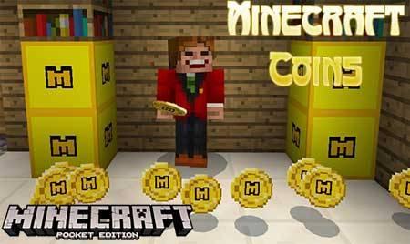 Текстуры Minecraft Coins для Minecraft PE