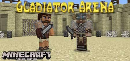 Карта Gladiator Arena для Minecraft PE