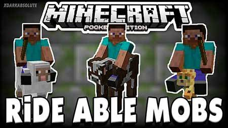 Мод All Mobs Rideable для Minecraft PE