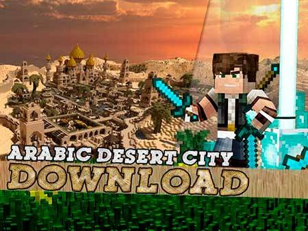 Карта Arabian Desert City для Minecraft PE