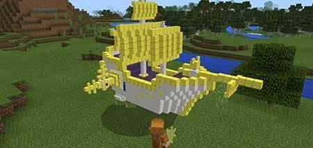 Мод Flying Ship для Minecraft PE
