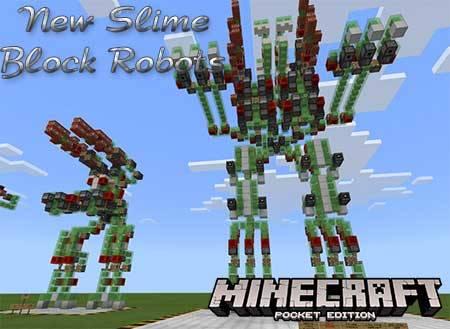 Карта New Slime Block Robots для Minecraft PE