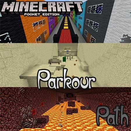 Карта Parkour Path для Minecraft PE
