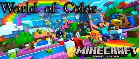 Карта World of Color для Minecraft PE