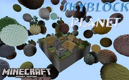 Карта Skyblock Planet для Minecraft PE