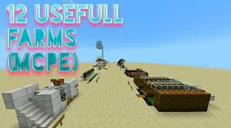 Карта 16 Useful Farms для Minecraft PE
