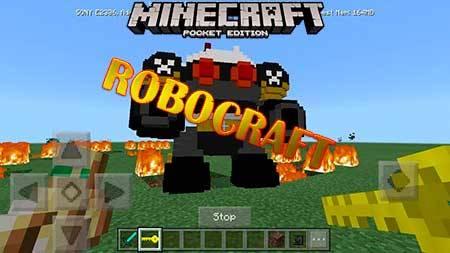 Мод RoboCraft для Minecraft PE