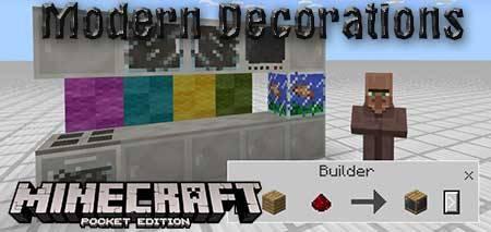 Мод Modern Decorations для Minecraft PE