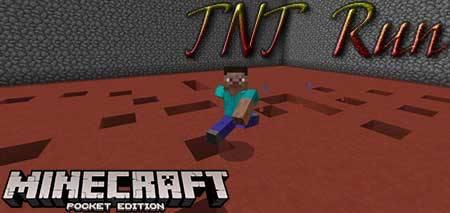 Карта TNT Run для Minecraft PE