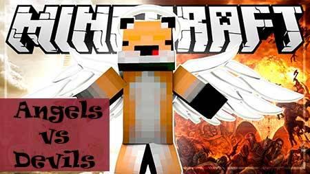 Мод Angels vs Devils для Minecraft PE