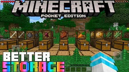 Мод Better Storage для Minecraft PE