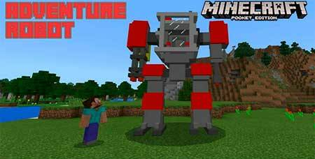 Мод AdventureRobot для Minecraft PE