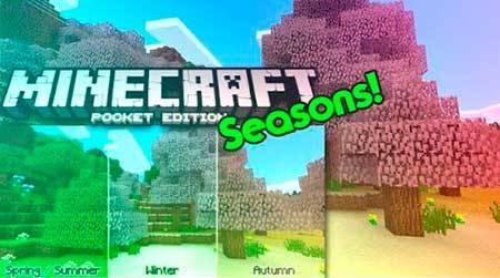 Текстуры Seasons для Minecraft PE