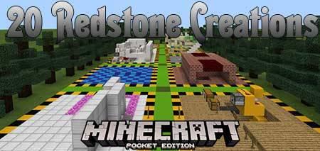Карта 20 Redstone Creations для Minecraft PE