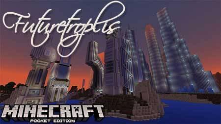 Карта Futuretroplis для Minecraft PE