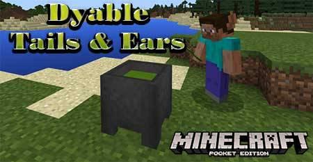 Текстуры Dyable Tails & Ears для Minecraft PE
