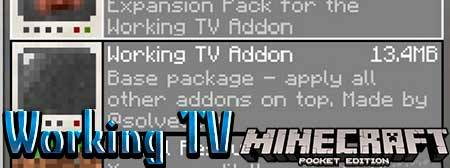 Мод Working TV для Minecraft PE