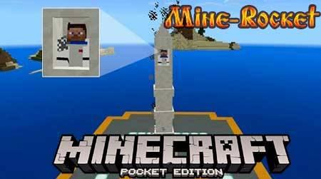 Мод Mine-Rocket для Minecraft PE