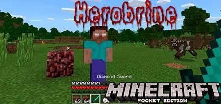 Мод Herobrine для Minecraft PE