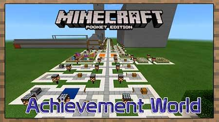 Карта Achievement World для Minecraft PE