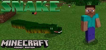 Мод Snake для Minecraft PE