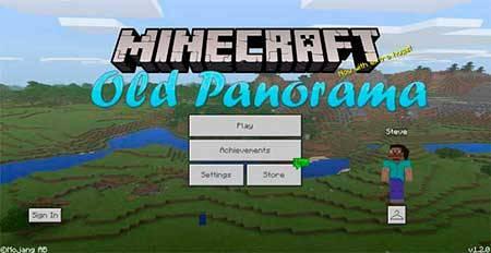 Текстуры Old Panorama для Minecraft PE