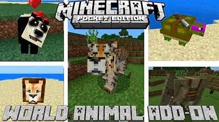 Мод World Animal для Minecraft PE