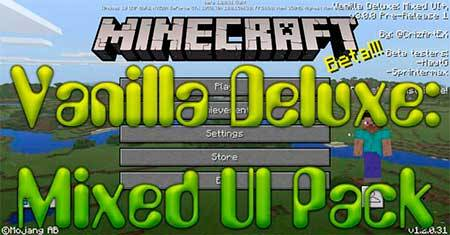 Текстуры Vanilla Deluxe: Mixed UI для Minecraft PE