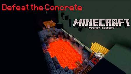 Карта Defeat The Concrete PE для Minecraft PE