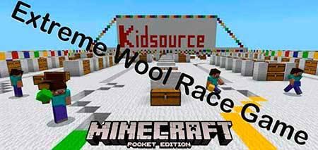 Карта Extreme Wool Race Game для Minecraft PE