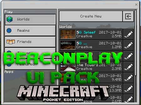 Текстуры BeaconPlay UI Pack для Minecraft PE