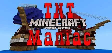 Карта TNT Maniac для Minecraft PE