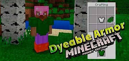 Мод Dyeable Armor для Minecraft PE