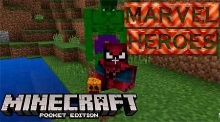 Текстуры Marvel Heroes для Minecraft PE