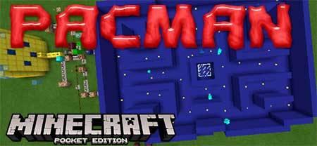Карта PACMAN для Minecraft PE