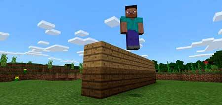 Reduce Player Gravity mcpe 2