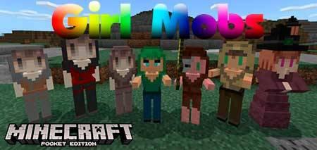 Мод Girl Mobs для Minecraft PE