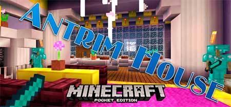 Карта Antrim House для Minecraft PE