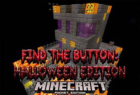 Карта Find The Button: Halloween Edition для Minecraft PE