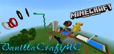 Карта VanillaCraftMC для Minecraft PE