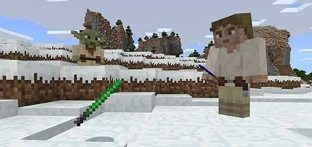 Мод  Lightsabers для Minecraft PE