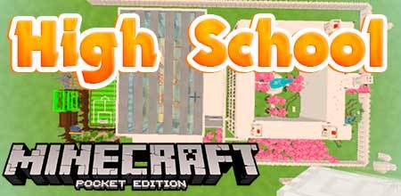 Карта High School для Minecraft PE